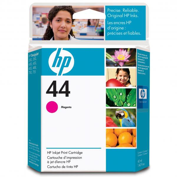 HP originální ink 51644ME, No.44, magenta, 42ml, HP DesignJet 350, 430, 488, 750C, 755CM