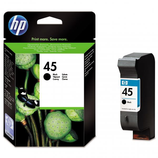 HP originální ink 51645AE, No.45, black, 930str., 42ml, HP DeskJet 850, 970Cxi, 1100, 1200, 1600, 6122, 6127