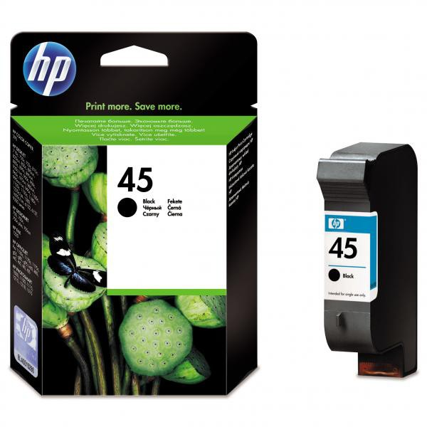 HP originální ink blistr, 51645AE#241, No.45, black, 930str., 42ml, HP DeskJet 850, 970Cxi, 1100, 1200, 1600, 6122, 6127