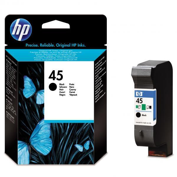 HP originální ink 51645GE, No.45, black, 21ml, HP DeskJet 850, 970Cxi, 1100, 1200, 1600, 6122, 6127