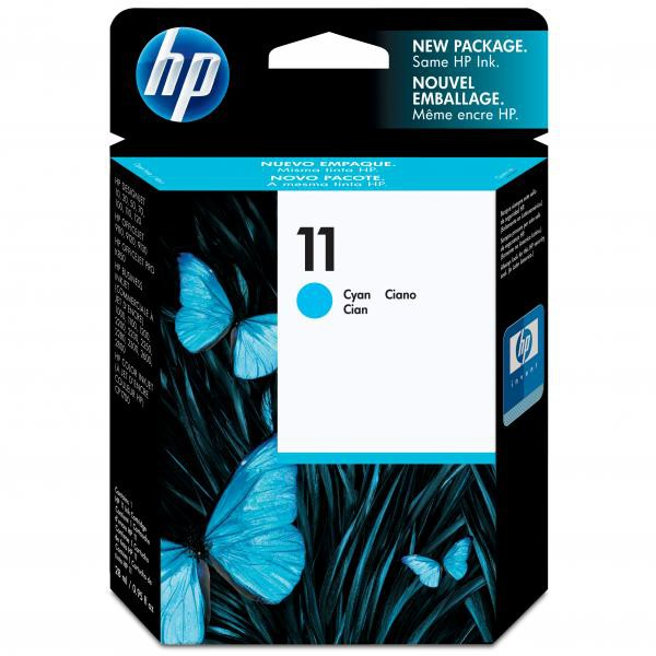 HP originální ink C4836AE, No.11, cyan, 1750str., 28ml, HP Business InkJet 2xxx, DesignJet 100, 10PS, 20PS