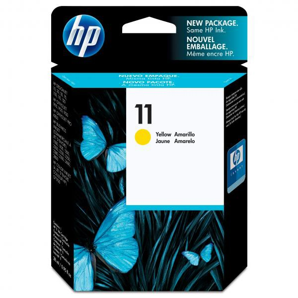 HP originální ink C4838AE, No.11, yellow, 1750str., 28ml, HP Business InkJet 2xxx, DesignJet 100, 10PS, 20PS
