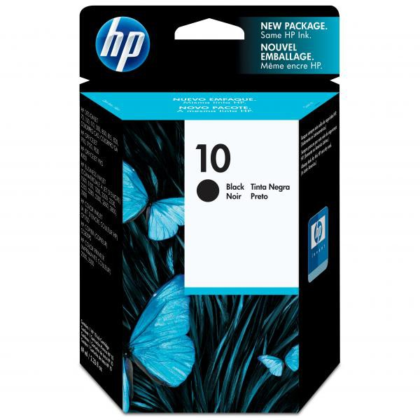 HP originální ink C4844A, No.10, black, 1400str., 69ml, HP DeskJet 2xxx, Business InkJet 2xxx, DesignJet 5xx
