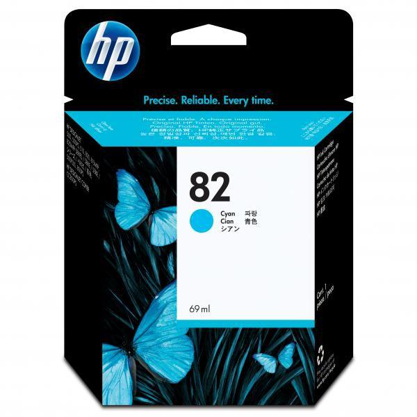 HP originální ink C4911A, No.82, cyan, 69ml, HP DesignJet 500, PS, 800, 815, cc800ps, 4200