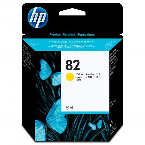 HP originální ink C4913A, No.82, yellow, 69ml, HP DesignJet 500, PS, 800, 815, cc800ps, 4200