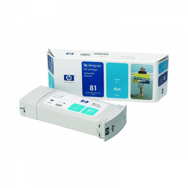 HP originální ink C4931A, No.81, cyan, 680ml, HP DesignJet 5000, PS, UV, 5500, PS, UV