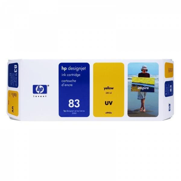 HP originální ink C4943A, No.83, yellow, 680ml, HP DesignJet 5000, PS, UV, 5500, PS, UV