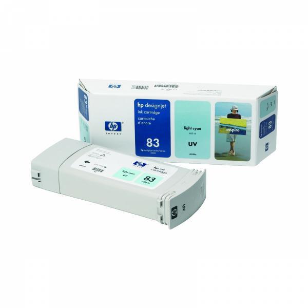 HP originální ink C4944A, No.83, light cyan, 680ml, HP DesignJet 5000, PS, UV, 5500, PS, UV