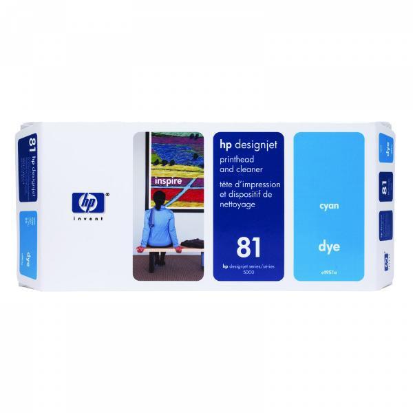HP originální tisková hlava C4951A, No.81, cyan, HP DesignJet 5000, PS, UV, 5500, PS, UV