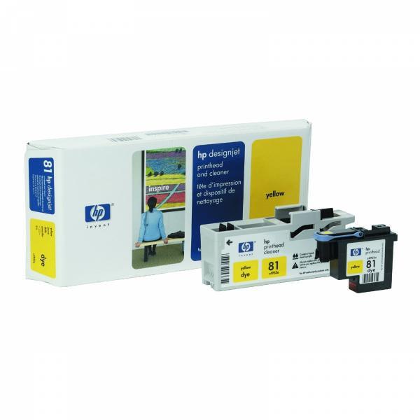 HP originální tisková hlava C4953A, No.81, yellow, HP DesignJet 5000, PS, UV, 5500, PS, UV