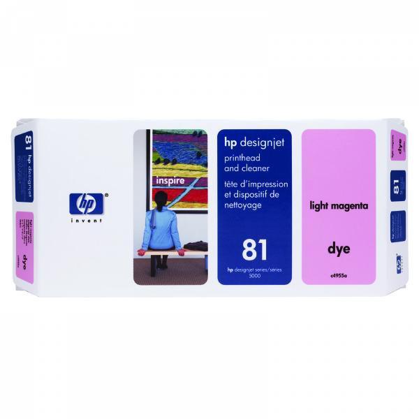 HP originální tisková hlava C4955A, No.81, light magenta, HP DesignJet 5000, PS, UV, 5500, PS, UV