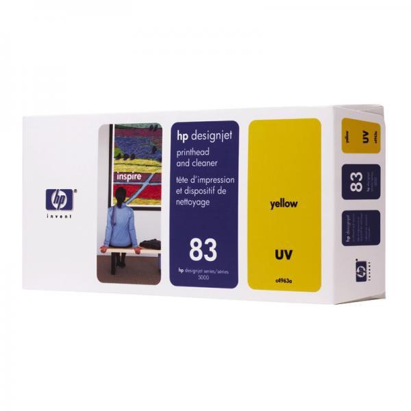 HP originální tisková hlava C4963A, No.83, yellow, HP DesignJet 5000, PS, UV, 5500, PS