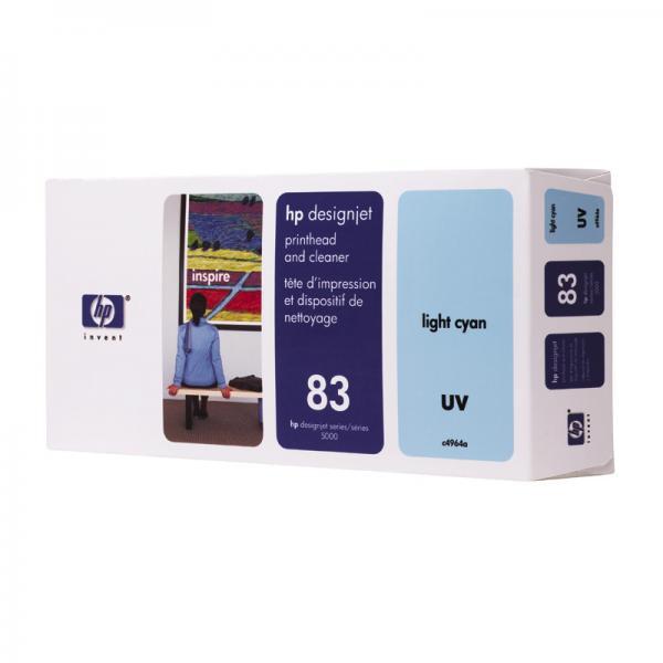 HP originální tisková hlava C4964A, No.83, light cyan, HP DesignJet 5000, PS, UV, 5500, PS