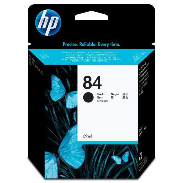 HP originální ink C5016A, No.84, black, 69ml, HP DesignJet 10ps, 20ps, 50ps, 120