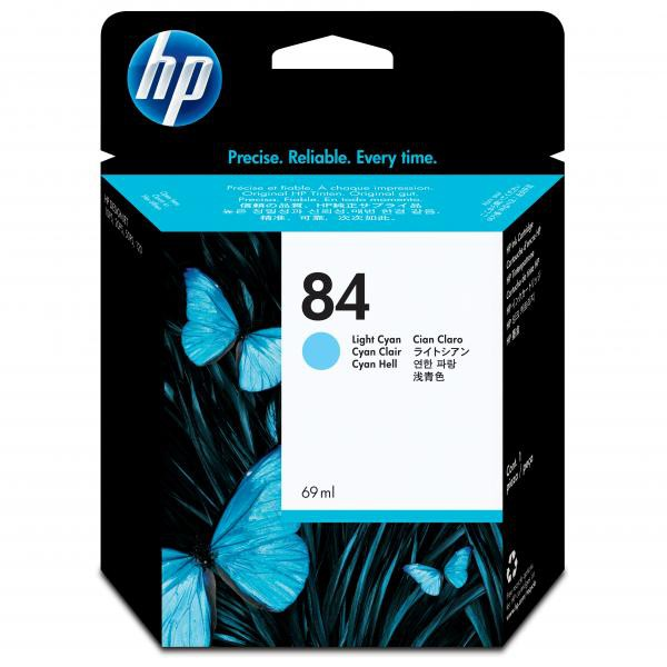 HP originální ink C5017A, No.84, light cyan, 69ml, HP DesignJet 10ps, 20ps, 50ps, 120