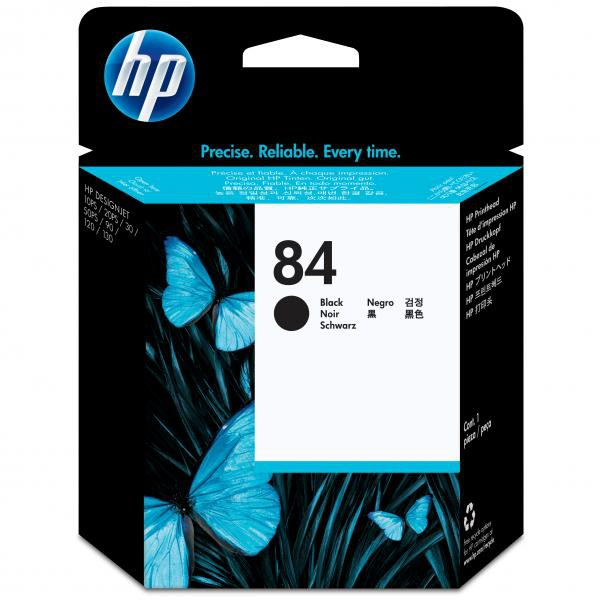 HP originální tisková hlava C5019A, No.84, black, HP DesignJet 10ps, 20ps, 50ps, 120