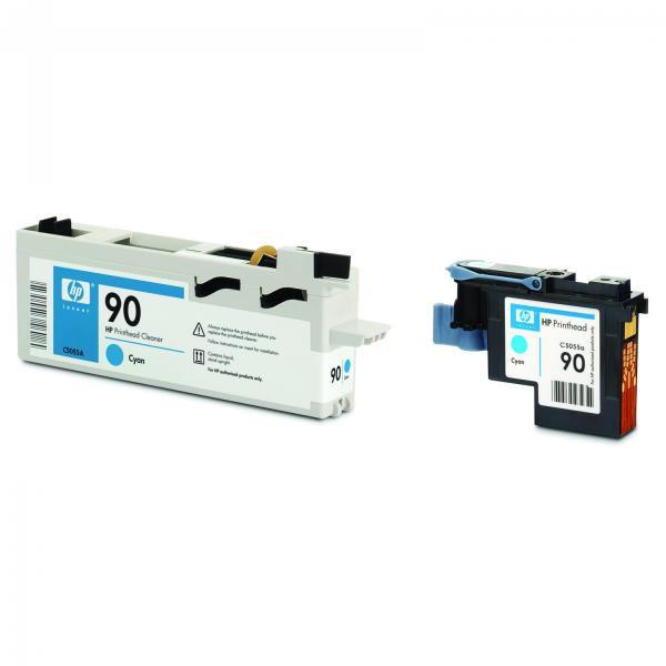 HP originální tisková hlava C5055A, No.90, cyan, 400ml, HP DesignJet 4000, 4000ps, 4500