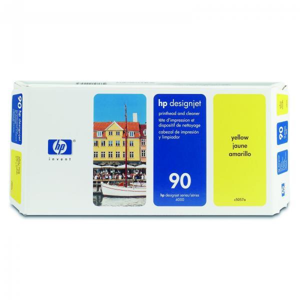 HP originální tisková hlava C5057A, No.90, yellow, 400ml, HP DesignJet 4000, 4000ps, 4500
