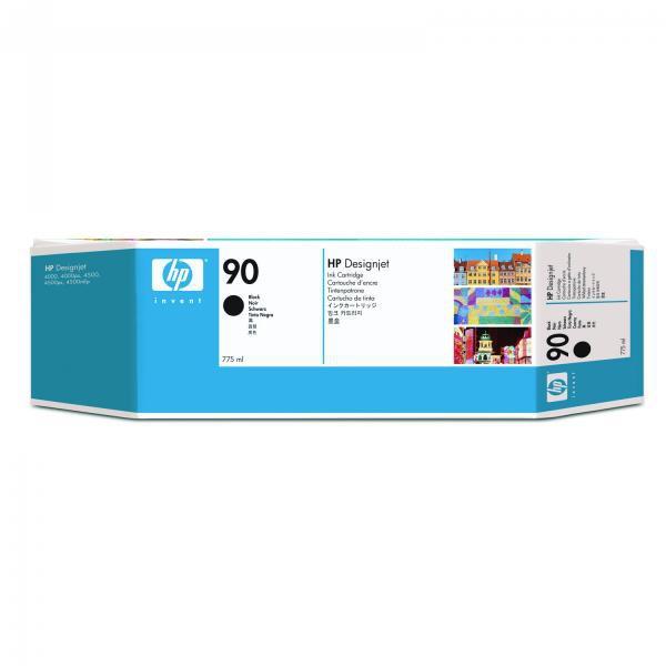 HP originální ink C5059A, No.90, black, 775ml, HP DesignJet 4000, 4000ps