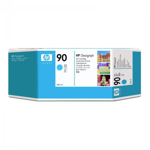 HP originální ink C5061A, No.90, cyan, 400ml, HP DesignJet 4000, 4000ps, 4500