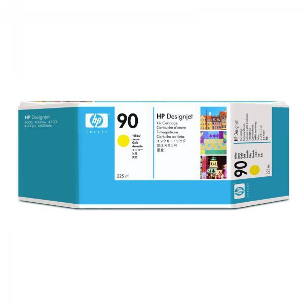HP originální ink C5064A, No.90, yellow, 225ml, HP DesignJet 4000, 4000ps, 4500