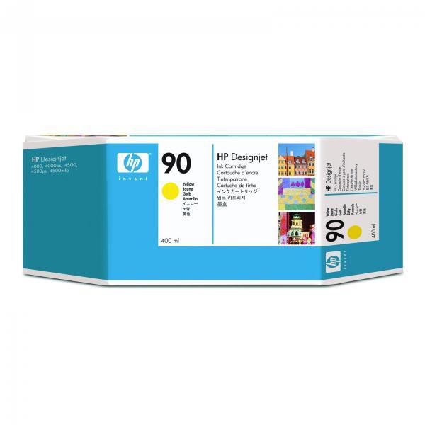 HP originální ink C5065A, No.90, yellow, 400ml, HP DesignJet 4000, 4000ps, 4500