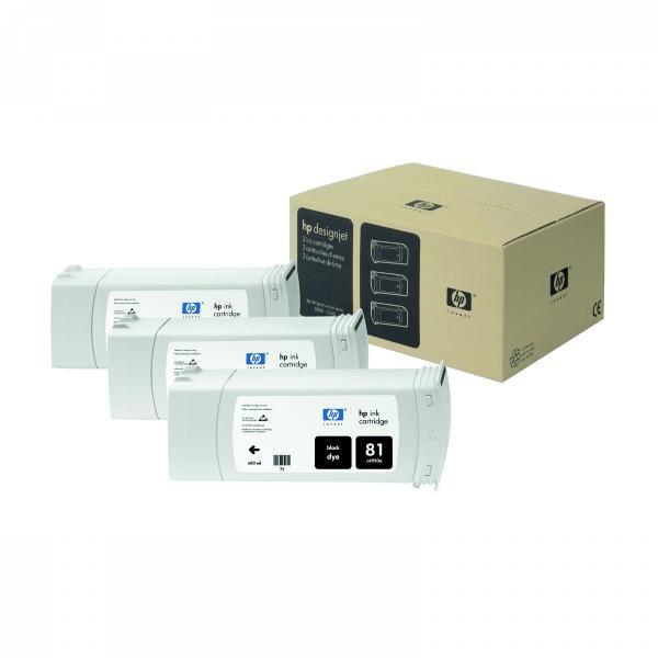 HP originální ink C5066A, No.81, black, 3x680ml, 3ks, HP DesignJet 5000, PS, UV, 5500, PS