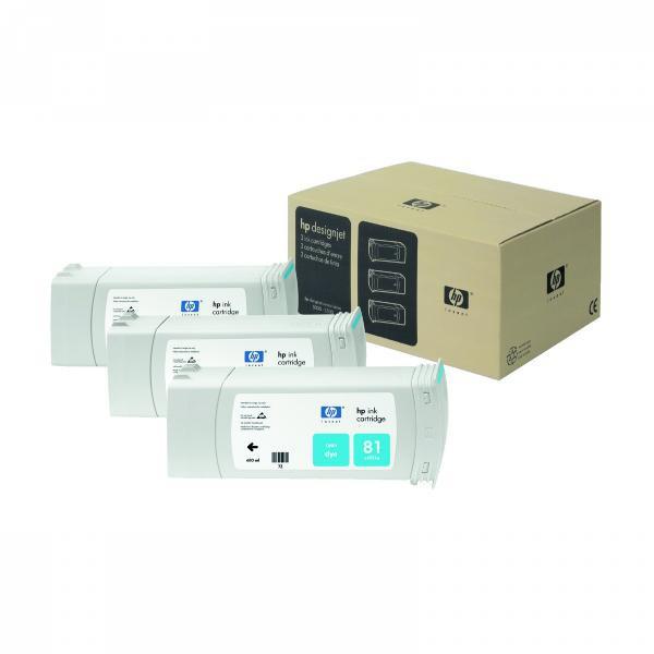 HP originální ink C5067A, No.81, cyan, 3x680ml, 3ks, HP DesignJet 5000, PS, UV, 5500, PS