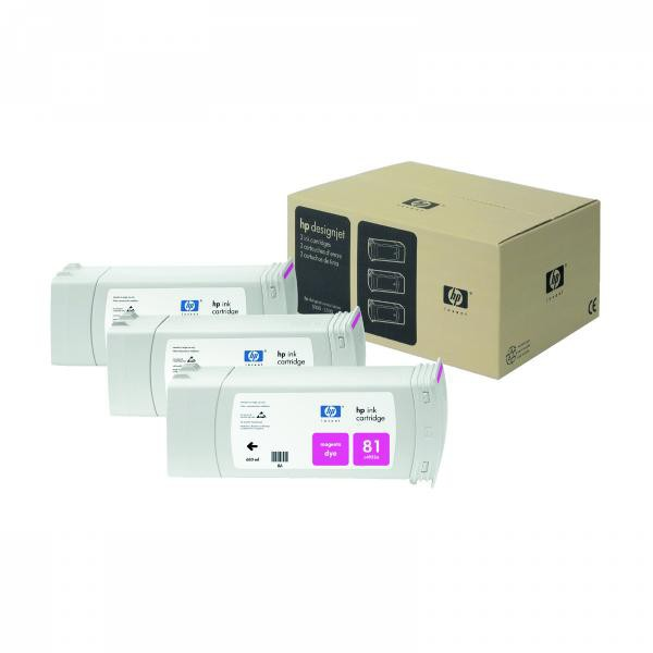 HP originální ink C5068A, No.81, magenta, 3x680ml, 3ks, HP DesignJet 5000, PS, UV, 5500, PS