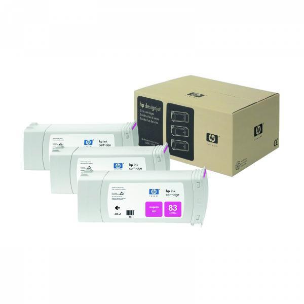 HP originální ink C5074A, No.83, magenta, 3x680ml, 3ks, HP DesignJet 5000, PS, 5500, PS