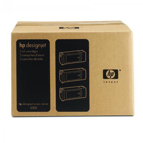 HP originální ink C5083A, No.90, cyan, 3x400ml, 3ks, HP DesignJet 4000, 4000ps