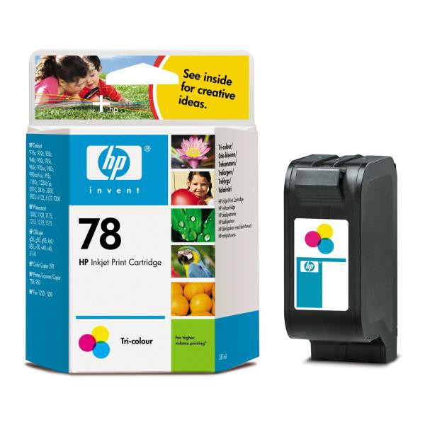 HP originální ink blistr, C6578DE#241, No.78, color, 450str., 19ml, HP DeskJet 970Cxi, 940, psc 750, 950, 1215, P1100