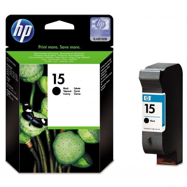 HP originální ink C6615DE, No.15, black, 500str., 25ml, HP DeskJet 810, 840, 843c, PSC-750, 950, OJ-V40