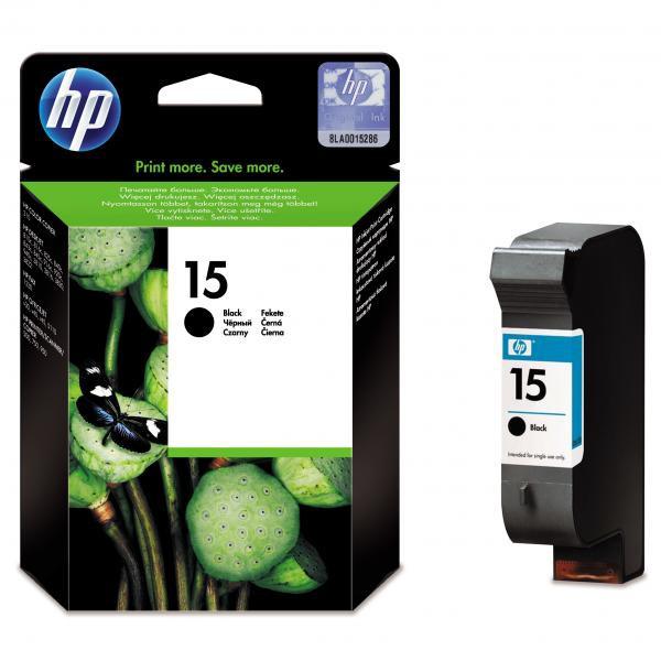 HP originální ink blistr, C6615DE#301, No.15, black, 500str., 25ml, HP DeskJet 810, 840, 843c, PSC-750, 950, OJ-V40