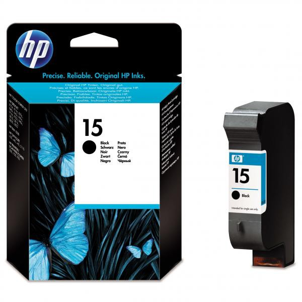 HP originální ink C6615NE, No.15, black, 270str., 14ml, HP DeskJet 810, 840, 843c, PSC-750, 950, OJ-V40