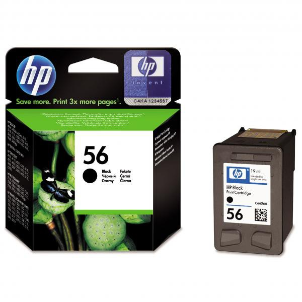 HP originální ink C6656AE, No.56, black, 520str., 19ml, HP DeskJet 450, 5652, 5150, 5850, psc-7150, OJ-6110