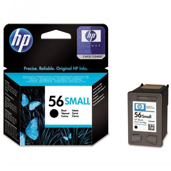 HP originální ink C6656GE#UUQ, No.56, black, 4,5ml, HP DeskJet 450, 5652, 5150, 5850, psc-7150, OJ-6110, poloviční kapacita
