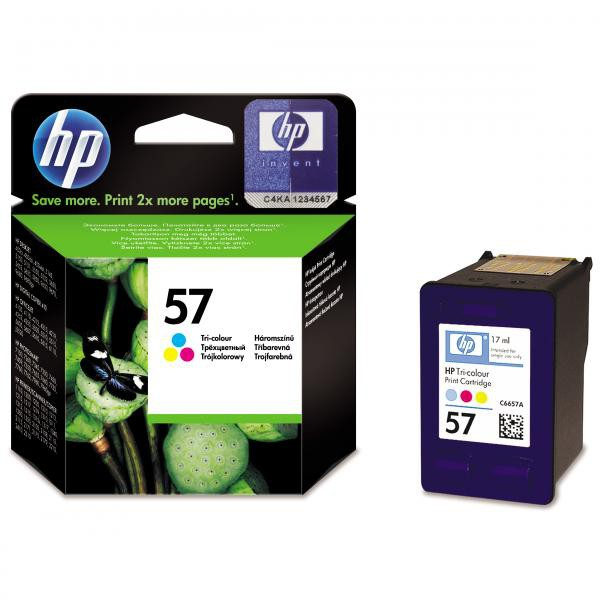 HP originální ink blistr, C6657AE#301, No.57, color, 500str., 17ml, HP DeskJet 450, 5652, 5150, 5850, psc-7150, OJ-6110