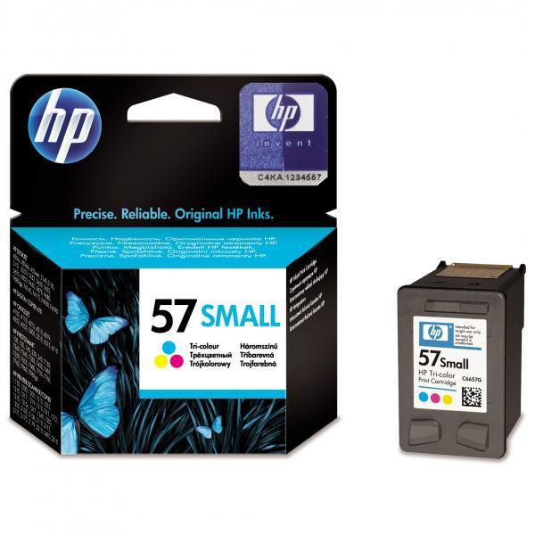 HP originální ink C6657GE, No.57, color, 4,5ml, HP DeskJet 450, 5652, 5150, 5850, psc-7150, OJ-6110, poloviční kapacita