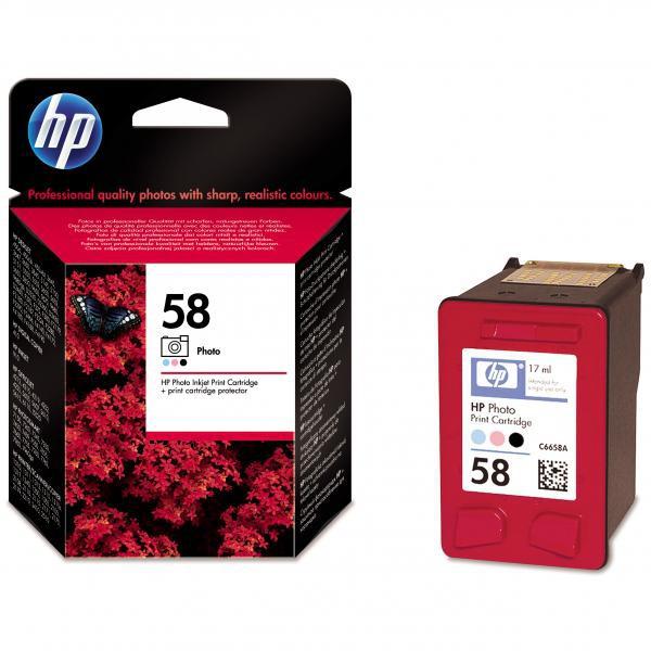 HP originální ink C6658AE, No.58, photo, 17ml, HP DeskJet 450, 5652, 5150, 5850, psc-7150, OJ-6110