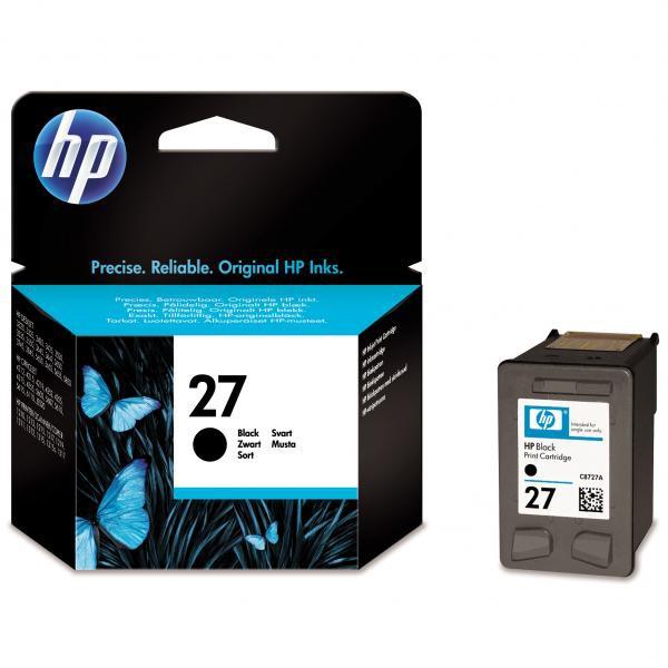 HP originální ink C8727AE, No.27, black, 10ml, HP DeskJet 3420, 3325, 3520, 3550, 3650
