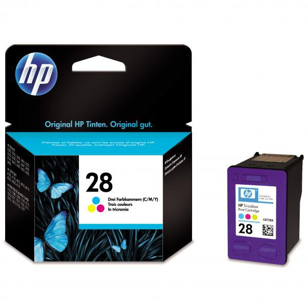 HP originální ink C8728AE, No.28, color, 8ml, HP DeskJet 3420, 3325, 3550, 3650, OJ-4110, PSC-1110