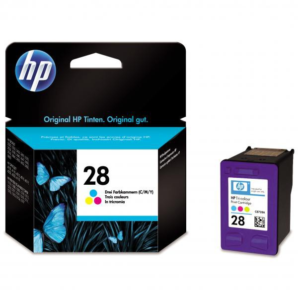 HP originální ink blistr, C8728AE#301, No.28, color, 8ml, HP DeskJet 3420, 3325, 3550, 3650, OJ-4110, PSC-1110