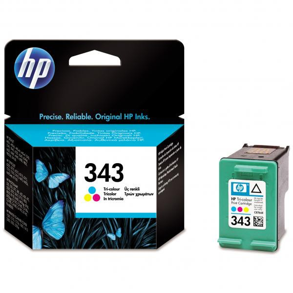 HP originální ink blistr, C8766EE#301, No.343, color, 260str., 7ml, HP Photosmart 325, 375, OJ-6210, DeskJet 5740