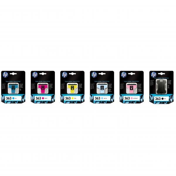 HP originální ink blistr, C8771EE#301, No.363, cyan, 4ml, HP Photosmart 8250, 3210, 3310, C5180, C6180, C7180