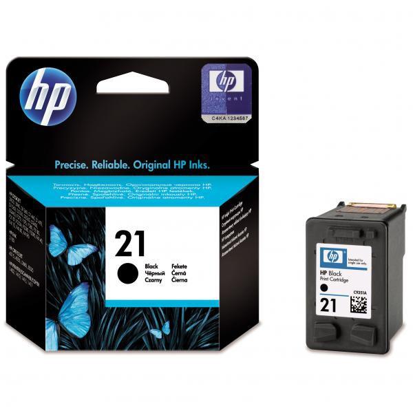 HP originální ink blistr, C9351AE#241, No.21, black, 150str., 5ml, HP PSC-1410, DeskJet F380, OJ-4300, Deskjet F2300