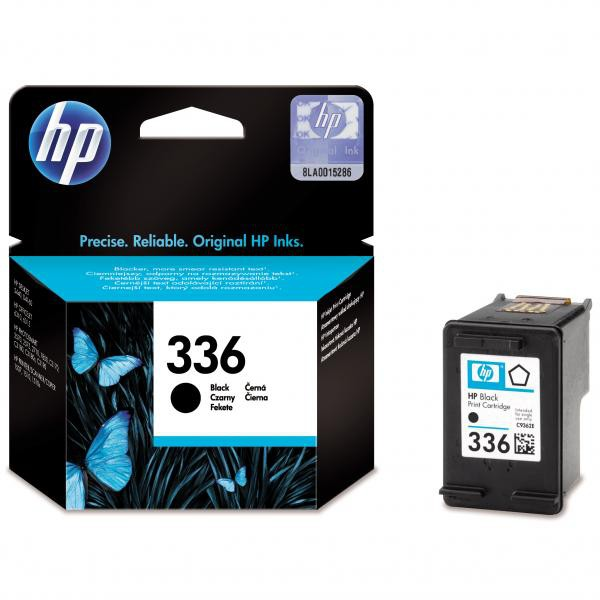 HP originální ink C9362EE, No.336, black, 210str., 5ml, HP Photosmart 325, 375, 8150, C3180, DJ-5740, 6540