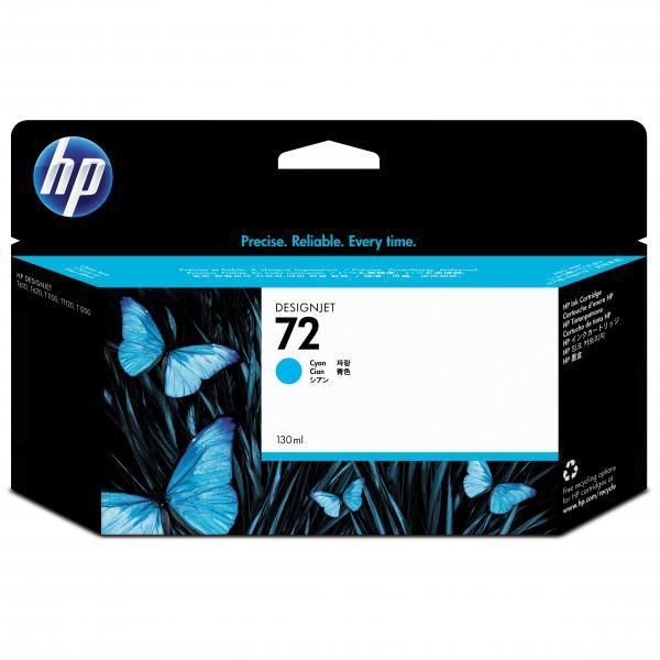HP originální ink C9371A, No.72, cyan, 130ml, HP Designjet T1100, T770