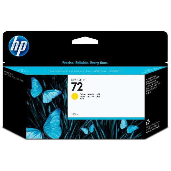 HP originální ink C9373A, No.72, yellow, 130ml, HP Designjet T1100, T770