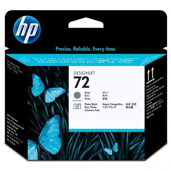 HP originální tisková hlava C9380A, No.72, grey/black, HP Designjet T1100, T770